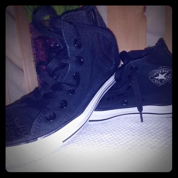 Converse Shoes   Black High Tops Womens